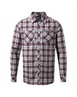 Andreas Long-Sleeved Check Shirt Red Wine Combo