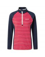 Tille Half-Zip Fiesta Red Stripe Soft Navy