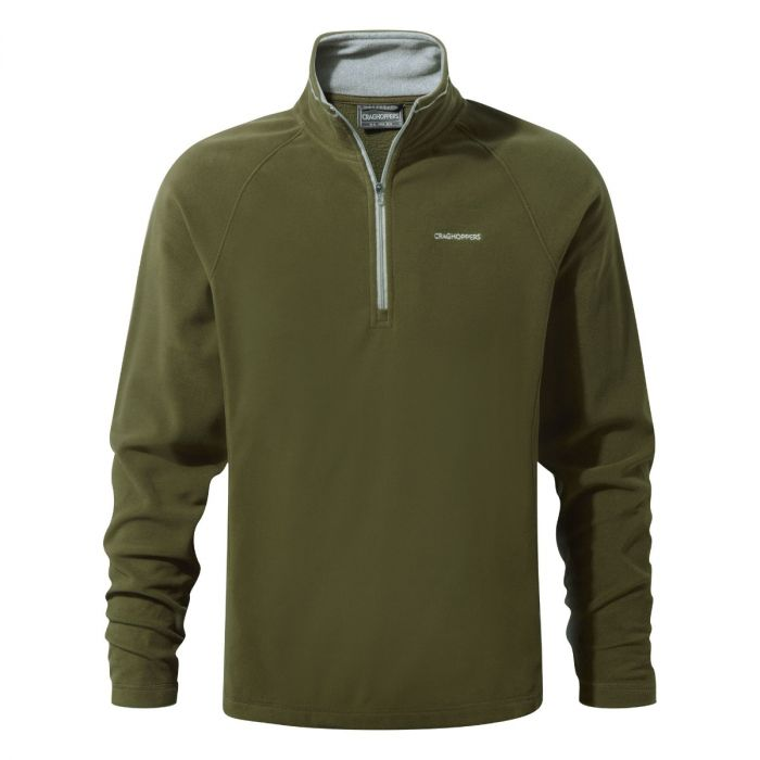 Selby Half-Zip Fleece Dark Moss
