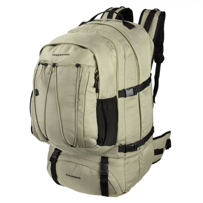 World Travel 65 Litre Rucksack Pebble