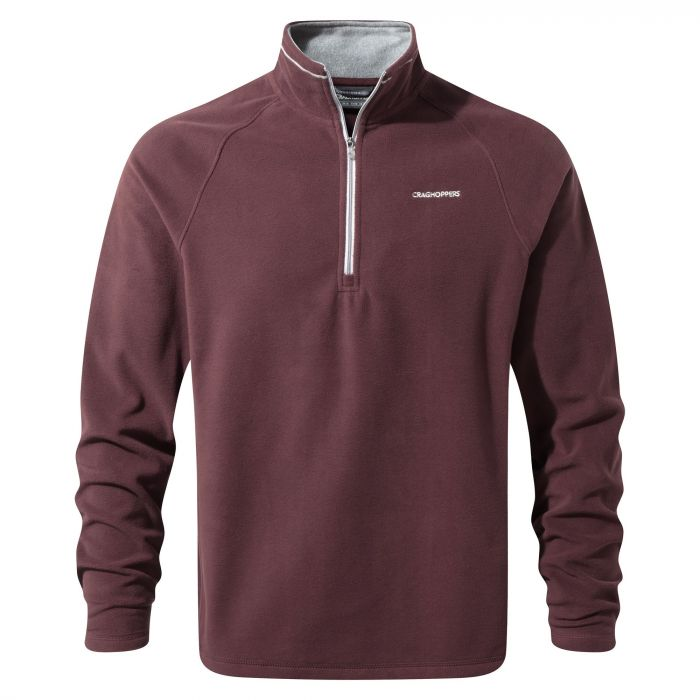 Selby Half-zip Red Wine