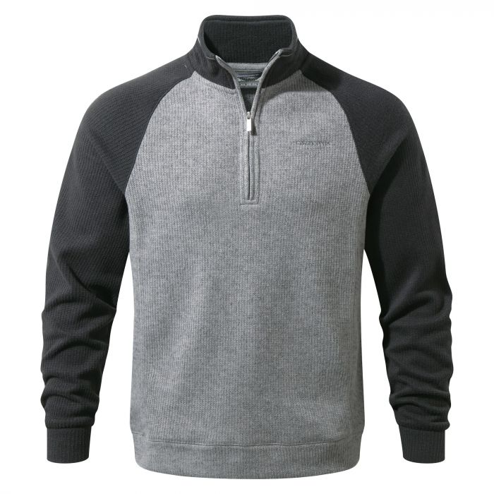 Norton Half-Zip Fleece - Black Pepper / Quarry Grey Marl