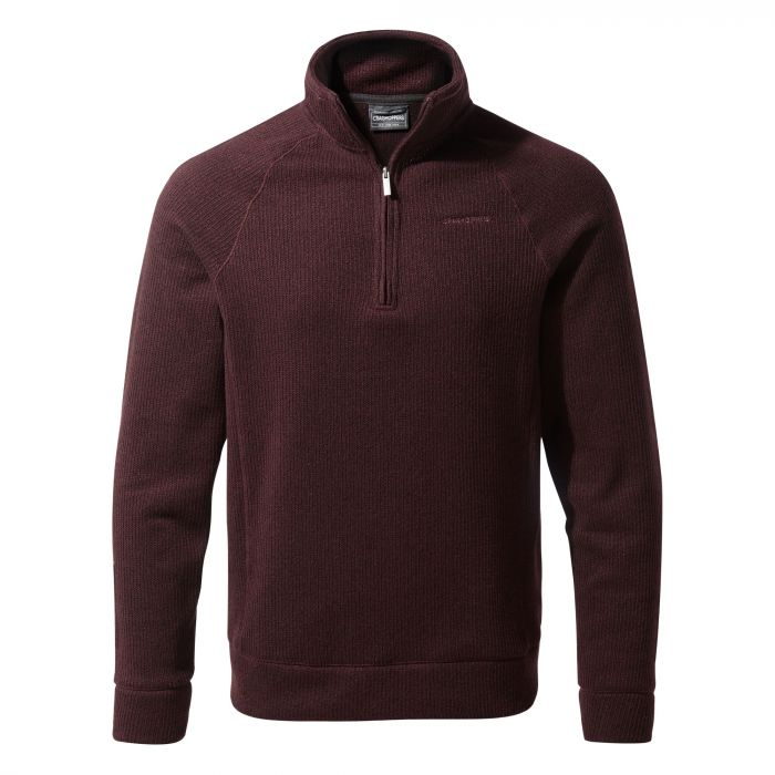 Norton Half-Zip Fleece - Dark Wine
