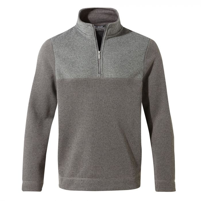 Taransay Half-Zip Fleece - Cement