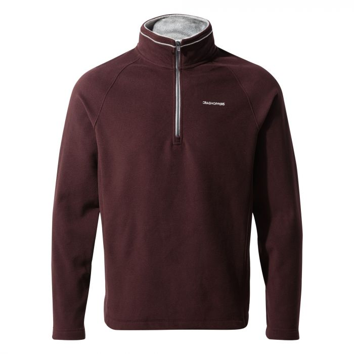 Corey V Half-Zip Fleece - Dark Wine