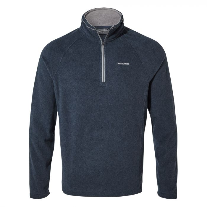 Corey V Half-Zip Fleece - Blue Navy Marl