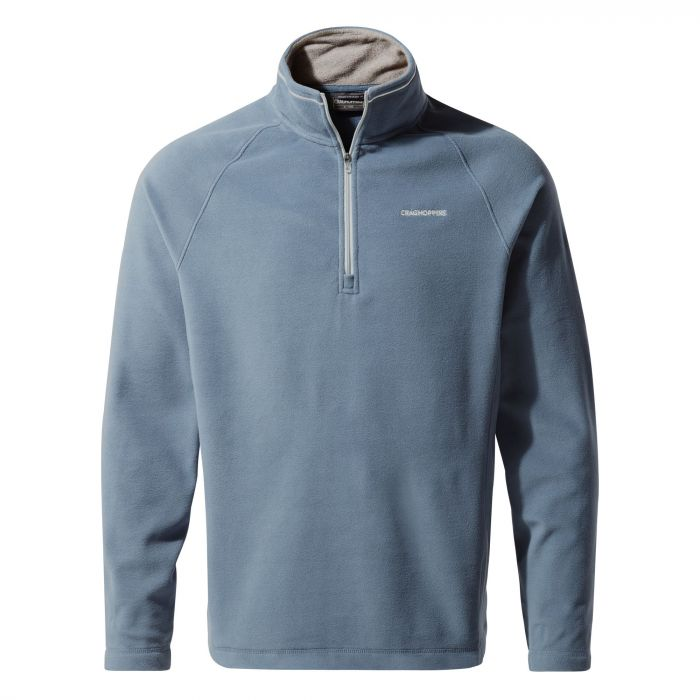 Corey V Half-Zip Fleece - Ocean Blue
