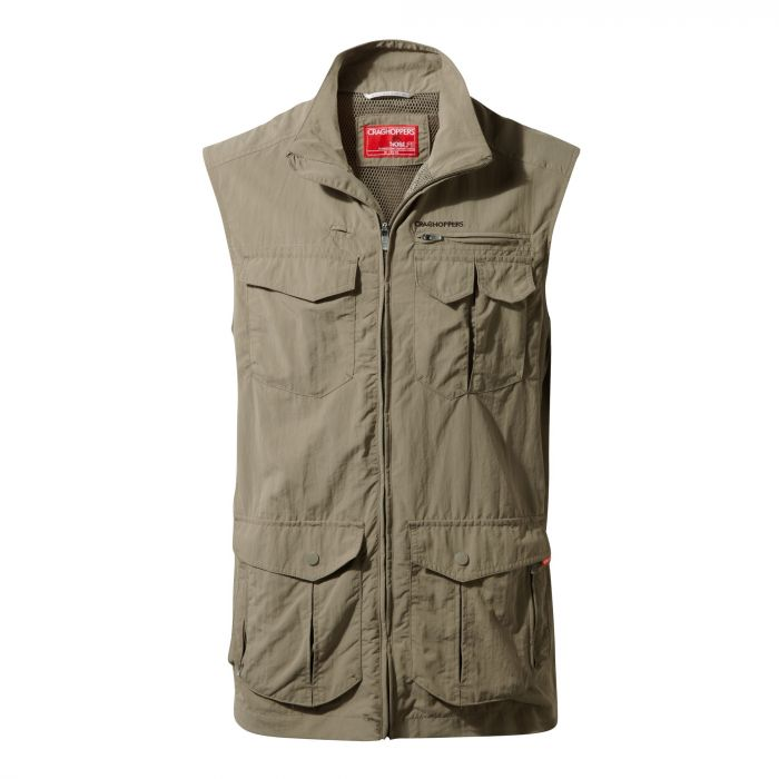 Insect Shield Adventure Gilet Pebble