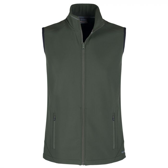 Expert Essential Interactive Softshell Vest Dark Green