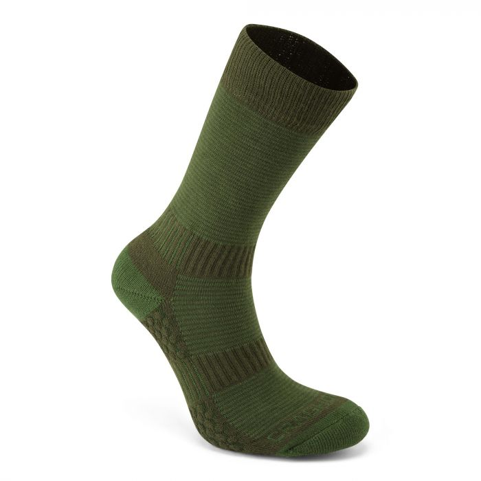 Heat Regulating Travel Socken Lime / Khaki