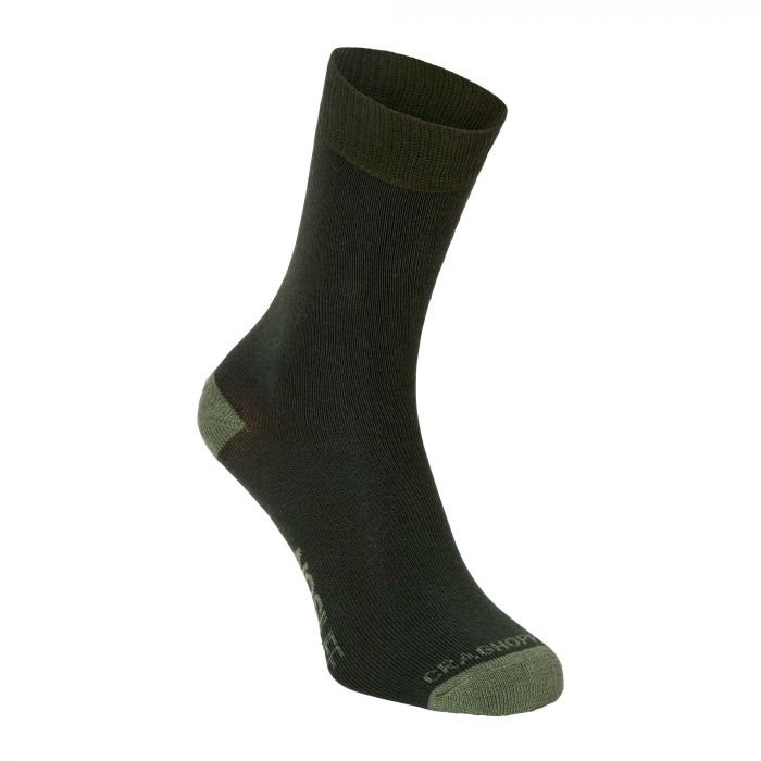 Single Pack NosiLife Travel Socken Parka Green / Dry Grass