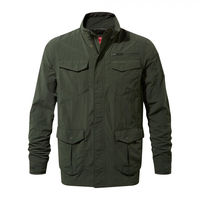 Insect Shield Adventure Jacket Dark Khaki