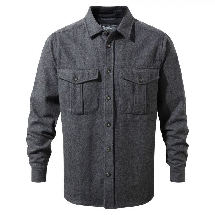 Dofri Wool Jacket Dark Grey Marl