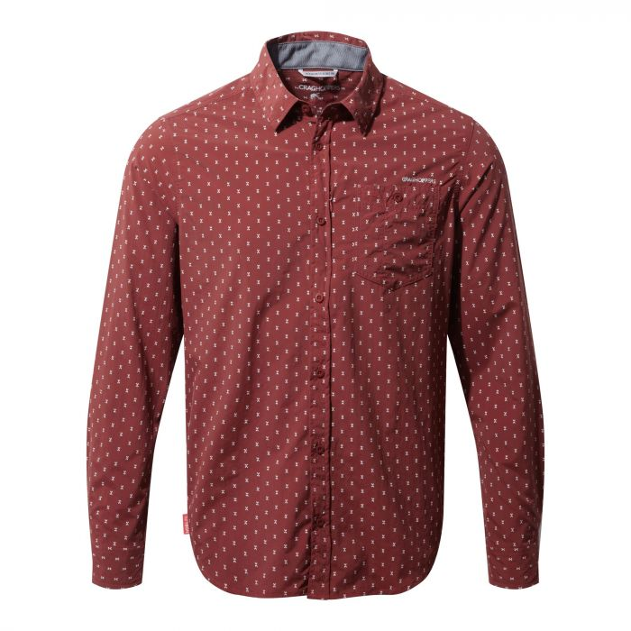 Insect Shield Todd Long-Sleeved Shirt Carmine Combo