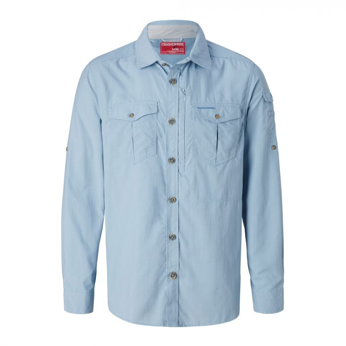 Insect Shield Adventure Long-Sleeved Shirt Fogle Blue