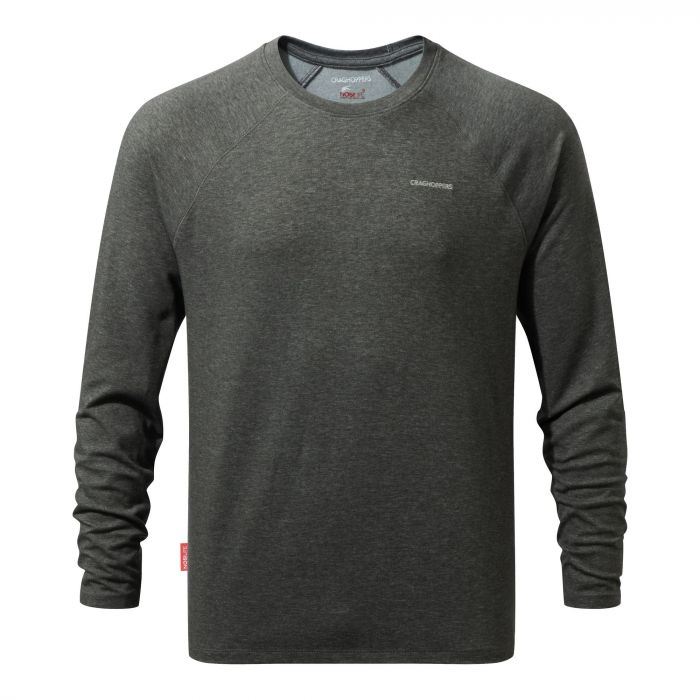 NosiLife Bayame Long-Sleeved Tee Black Pepper Marl