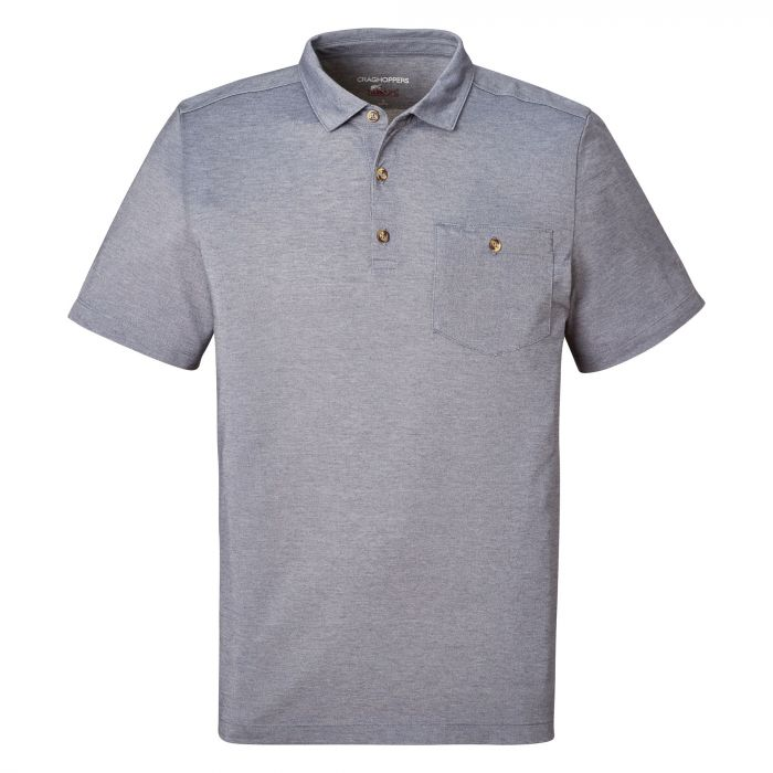 NosiLife Gilles Short-Sleeved Polo Ombre Blue Marl