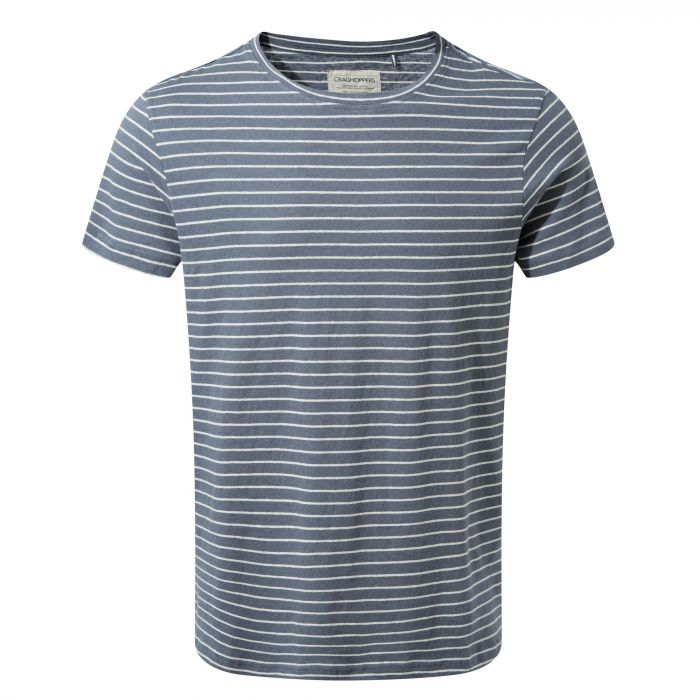 Bernard Short-Sleeved T-Shirt Ombre Blue Stripe