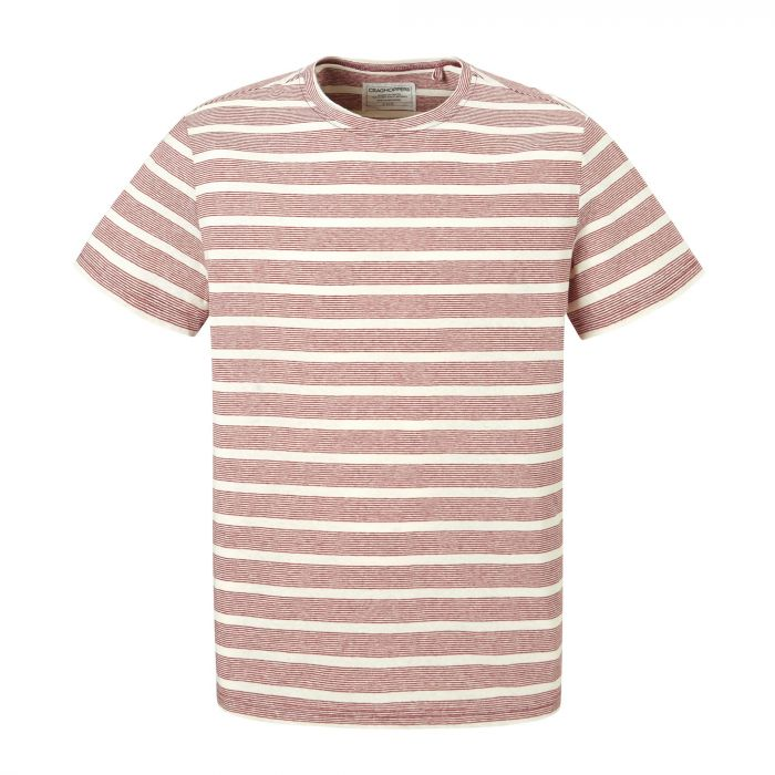 Bernard Short-Sleeved T-Shirt Red Earth Stripe