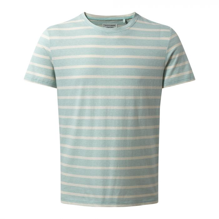 Bernard Short-Sleeved T-Shirt Lightt Bondi Blue Stripe