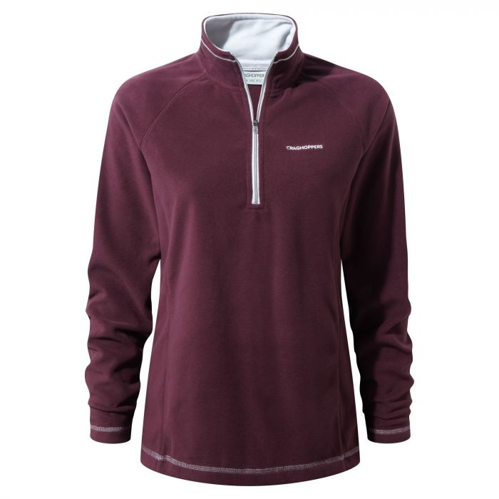 Seline Half-zip Winterberry