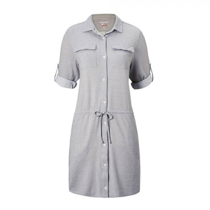 Insect Shield Daku Dress Soft Grey Marl
