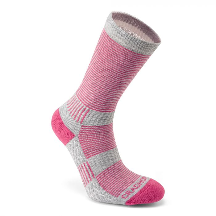 Heat Regulating Travel Sock Pink / Dove Grey