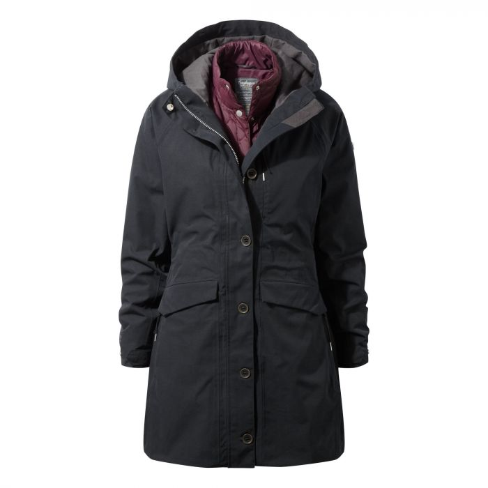 373 3in1 Jacket Black / Winterberry