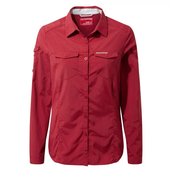 NosiLife Adventure Long-Sleeved Shirt - Fire Red  eb23dadb82bf