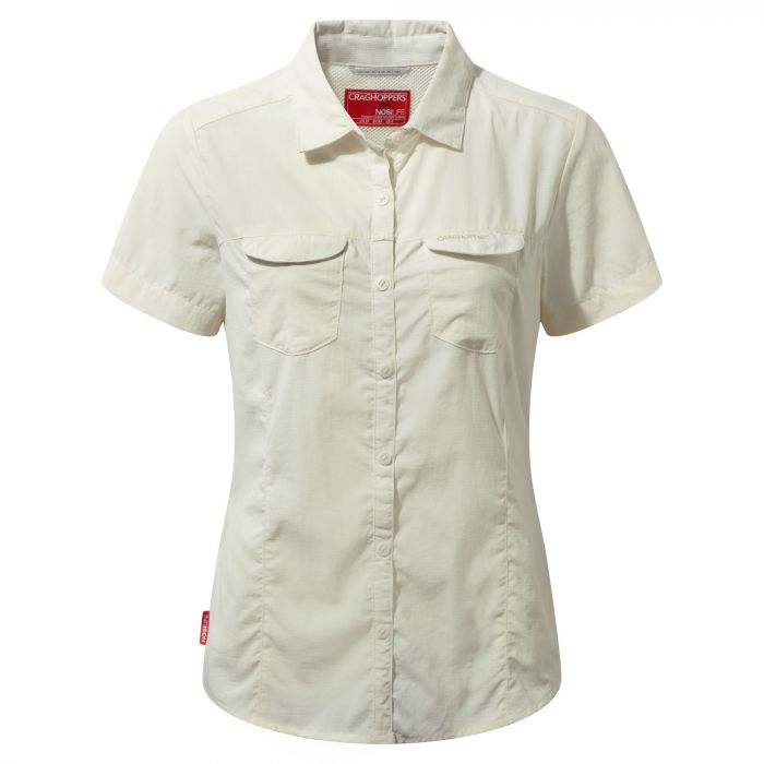 Insect Shield Adventure Short-Sleeved Shirt Sea Salt