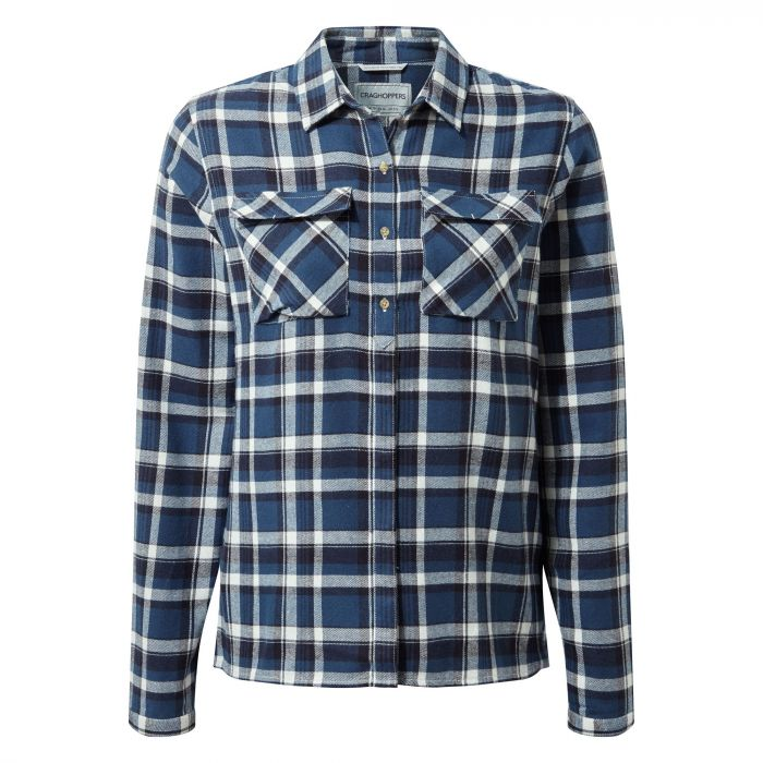 Islay Long-Sleeve Shirt - Loch Blue Check