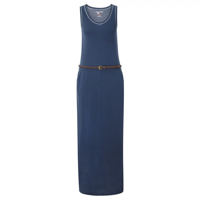 Insect Shield Amiee Maxi Dress Soft Navy
