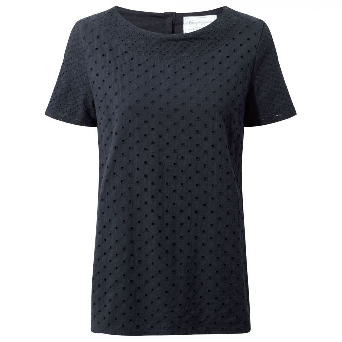 Yara kurzarm Top Dark Navy
