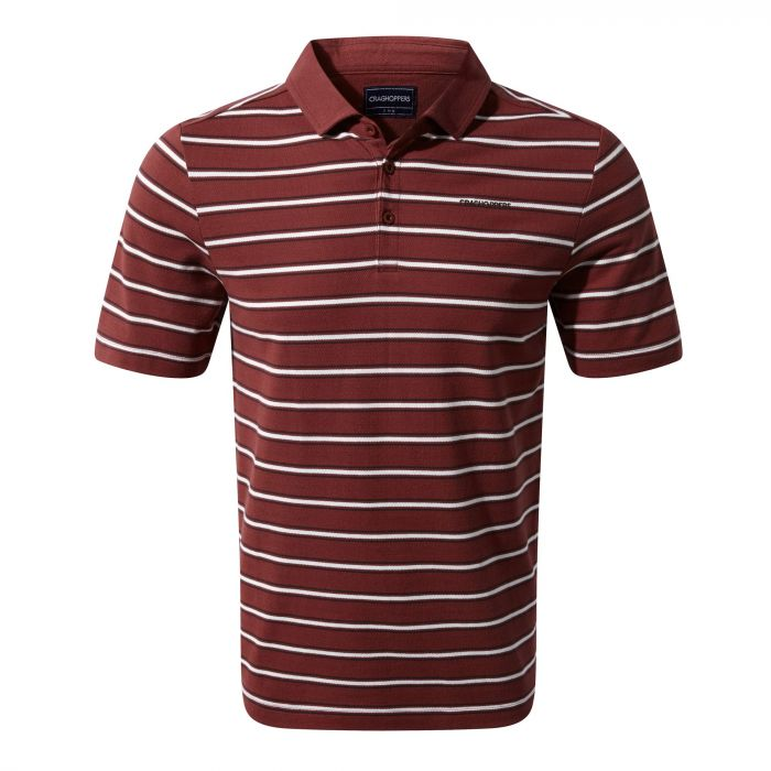Geraldton kurzarm Polo Red Earth Stripe