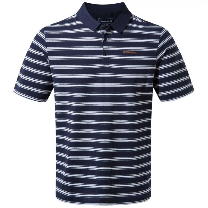 Geraldton kurzarm Polo Blue Navy Stripe