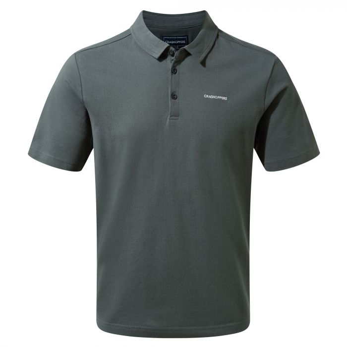 Geraldton Short-Sleeved Polo Dark Grey