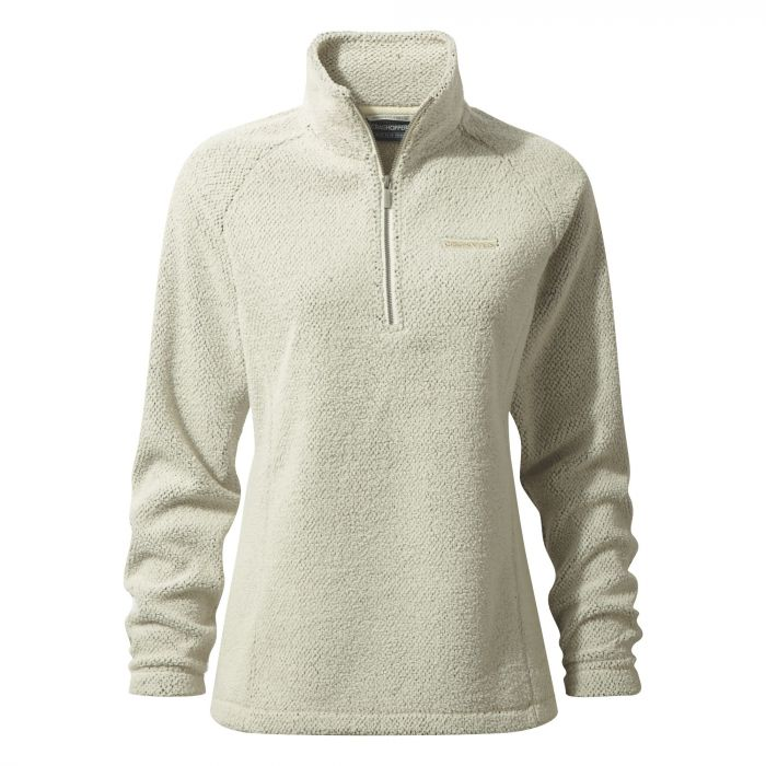 Moira Half-Zip Fleece Ecru