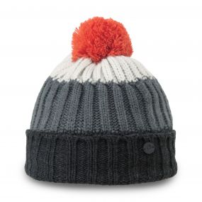 Kids Bobble Hat Black Marl