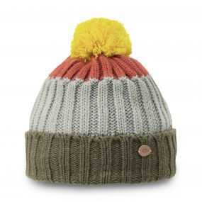 Kids Bobble Hat Dark Moss Marl