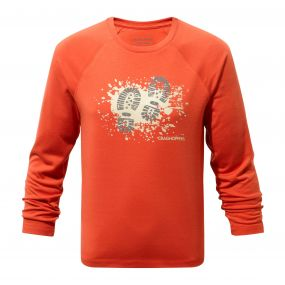 Mimir Long-Sleeved Graphic Tee Vermillion Orange