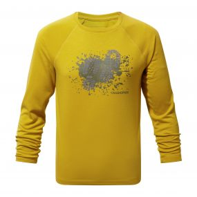 Mimir Long-Sleeved Graphic Tee Desert Yellow