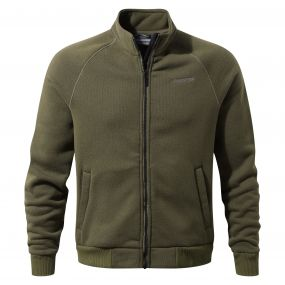 Henrik Fleece Jacket Dark Moss