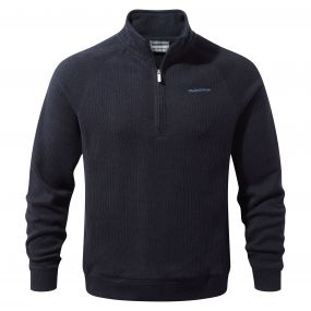 Norton Half-Zip Fleece Dark Navy Marl