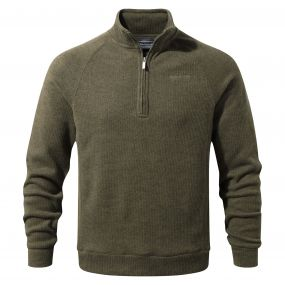 Norton Half-Zip Fleece Dark Moss Marl