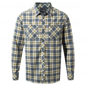 Andreas Long-Sleeved Check Shirt Ombre Blue Combo