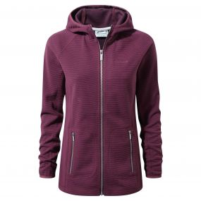 Hazelton Hooded Jacket Dark Rioja Red