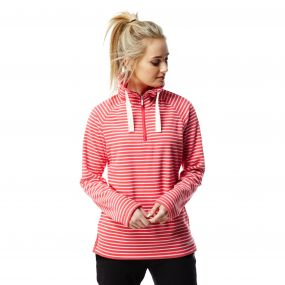 Rhonda Half Zip Fleece Watermelon Combo