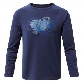 Mimir Long-Sleeved Graphic Tee Night Blue