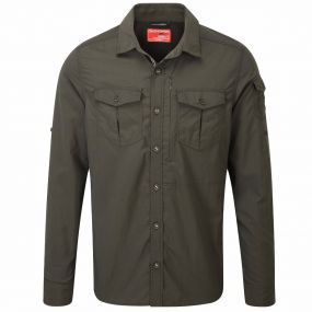 NAT GEO INSECT SHIELD ADVENTURE LONG SLEEVED SHIRT Dark Khaki