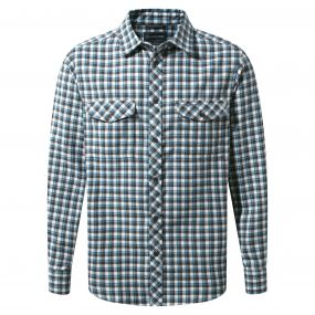 Kiwi Long-Sleeved Check Shirt Dark Grey Combo